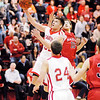 Frankton sophomore Nick Wright puts two points on the scoreboard for the Eagles.