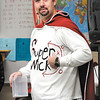 "As part of Daleville High School's homecoming activities this week it was Super Heroes day Thursday.  Dressed as the ""Super Wick"" hero was Social Studies teacher and girl's basketball coach Jeff Wickersham."