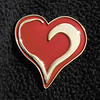 Anderson University sophomore Drew Brantley wears this heart pin as a symbol of the Close the Gap Foundation, which works to address disparities in cardiovascular care.
