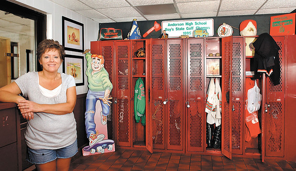 THB file photo:  Diana Basey is owner of a new high school themed restaurant, Hamburger High at 21 W. 38th Street in Anderson.