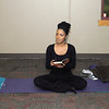 Jamie Wilkerson leads the Holy Yoga class at Madison Park Church of God on Thursday.