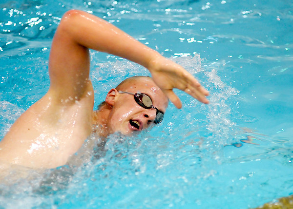 Jason Cramer practices with the Anderson Boy's swim team on Thursday. Cramer is the NCC conference 200 and 500 freestyle champion.