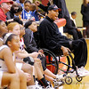 Landon Turner served as honorary coach for the 7th grade Lady Scots as they hosted Anderson Preparatory Academy on Wednesday. Turner started on Indiana University's 1981 National Championship Team before losing the use of his legs in a car accident.