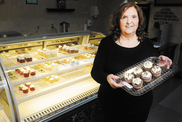 Jinny Hunt is the owner Jinny's Cupcakes that has opened in the food court at the Mounds Mall.