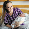 Elizabeth Weber's daughter Lybee was the first baby born in Madison County in 2013.