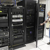 IT Director Jerry Branson stands in the data center at the Madison County Government Center on Friday.