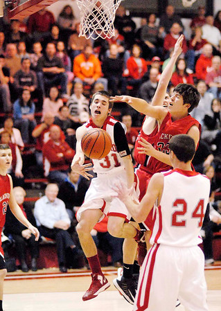 Frankton sophomore Austin Compton passes to teammate Trevor Hughes during the Eagles home game against the Blackford Bruins.