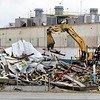 Woodland, California-based Tower Investments, LLC, continue to demolish <br /> the 200,000 square foot warehouse space of the former Guide Plant<br /> 9 on West 29th Street Friday.  Most of the structure has been knocked down as salvage operations continue. <br /> <br /> <br /> <br /> <br /> <br /> <br /> Demolition continues on the old warehouse space of Guide plant 9.