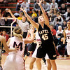 Lapel's Morgan Tarlton grabs an offensive rebound as Frankton hosted Lapel on Tuesday.
