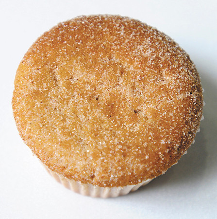 A Churro cupcake is one of many selections at Jinny's Cupcakes at the food court in the Mounds Mall.