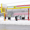 Don Knight / The Herald Bulletin<br /> The Swifty gas Station in Alexandria is closed and the branding of the station has been covered up.