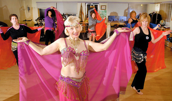 THB photo/John P. Cleary<br /> Tatiana Smith and her belly dancing class at Yoga For Everyone at 12 E. Cross Street in Anderson.