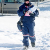 Don Knight / The Herald Bulletin<br /> Letter carrier Panzy Lifford is bundled up as she delivers mail in single digit temperatures to homes on Central Avenue on Tuesday. Warmer temperatures are forecast to return later this week.