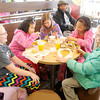 Don Knight / The Herald Bulletin<br /> Rylan Mason celebrated her 10th birthday with a slumber party followed by breakfast at the new McDonalds on Broadway in Anderson on Tuesday. Seated from left are Olivia Eldor, Ryan Mason, Katelyn Browning, Rylan Mason and Abbie Elder.