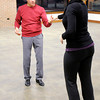 "Don Knight / The Herald Bulletin<br /> Ron McNabney and Monica Lung rehearse for the opening number for this year's ""Dancing Like the Stars."""