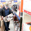 Don Knight / The Herald Bulletin<br /> Larry Peeples of Anderson shops for a heater at Northgate True Value on Saturday. Heaters and kerosene were selling fast ahead of the snow storm and frigid temperatures forecast to arrive on Sunday.