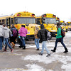 Don Knight / The Herald Bulletin<br /> Students load onto busses at Frankton Junior Senior High School at the end of the day on Friday. Frankton-Lapel students will be attending classes on PresidentÕs Day, with any remaining make-up days scheduled for the end of the school year, set to start on Wednesday, May 28.