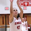 Photo by Chris Martin for THB<br /> Frankton's Ryann Shively takes a free throw Thursday night when the Lady Eagle's hosted Tipton