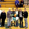 Photo by Chris Martin for The Herald Bulletin<br /> Pendleton Senior Kelsee Wendling is recognized at center court