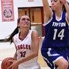 Photo by Chris Martin for THB<br /> Katie Key drives to the basket Thursday in a home win against Tipton