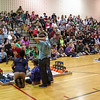A large crowd of spectators was on hand to watch elementary school robotics teams compete in the VEX I. Q. Challenge on Sunday.