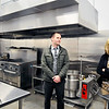 John P. Cleary |  The Herald Bulletin<br /> Jason Brizendine, security supervisor, and Ann Roberts, executive director of the Madison Community Corrections, look over the new kitchen area for the new minimum security facility.