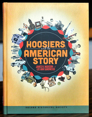 John P. Cleary    The Herald Bulletin<br /> Indiana Historical Society holds a teacher workshop on Hoosiers and the American Story, a supplemental textbook. This is the front of the text book.