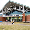 John P. Cleary |  The Herald Bulletin<br /> Exterior of Eastside Elementary School.