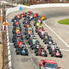 John P. Cleary | for The Herald Bulletin  FILE PHOTO<br /> 2016 Pay Less Little 500 sprint car race with the cars all lined up for the parade lap before the start of the race.