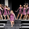 "Don Knight | The Herald Bulletin<br /> Bailey Kirts sings a solo as Anderson High School's Vocal Elegance performs ""I Surender"" during their Winter Warm Up show on Thursday. The show choirs competition season kicks off with the Carroll Classic this Saturday at Carroll High School."