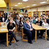 John P. Cleary |  The Herald Bulletin<br /> ACS Superintendent Terry Thompson shares with Eastside Elementary teachers and staff his FIRST facilities improvement plan Tuesday morning before making it public later that day.
