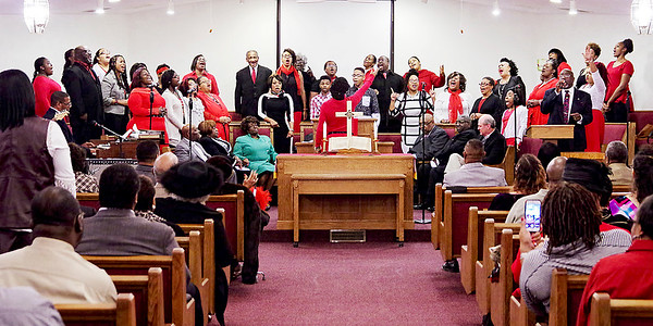 Mark Maynard   for The Herald Bulletin<br /> The Community Choir performs for the congregation at the 38th Annual Dr. Martin Luther King, Jr. Service.