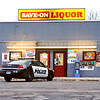 John P. Cleary |  The Herald Bulletin<br /> Save-On Liquor at 3719 Main Street in Anderson robbed at gunpoint Monday afternoon.