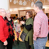 Don Knight | The Herald Bulletin<br /> Jerry and Chris Young greet Marcus and Carrie Hoffman as they arrive at an open house for Jerry who is retiring from Christian Congregation Church in Alexandria. Young presided over the Hoffmans' wedding