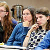 John P. Cleary |  The Herald Bulletin<br /> These folks listen as the area state legislators discuss this years' session that started this past week during the first Third House Legislative session Monday evening at the Anderson Public Library.