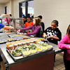 John P. Cleary |  The Herald Bulletin<br /> Tenth Street Elementary School students go through the food line in the school cafeteria.