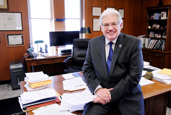 Don Knight   The Herald Bulletin<br /> Anderson Mayor Thomas Broderick Jr. has completed his first year in office and, as he stated during the 2015 municipal campaign, his goals were to attract high-paying jobs, improve infrastructure and promote good quality of life.