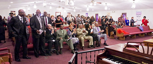 Mark Maynard | for The Herald Bulletin<br /> An enthusiastic audience filled the Bethesda Baptist Church on Sunday evening for the 38th Annual Dr. Martin Luther King, Jr. Service presented  by the Concerned Ministers of Anderson.