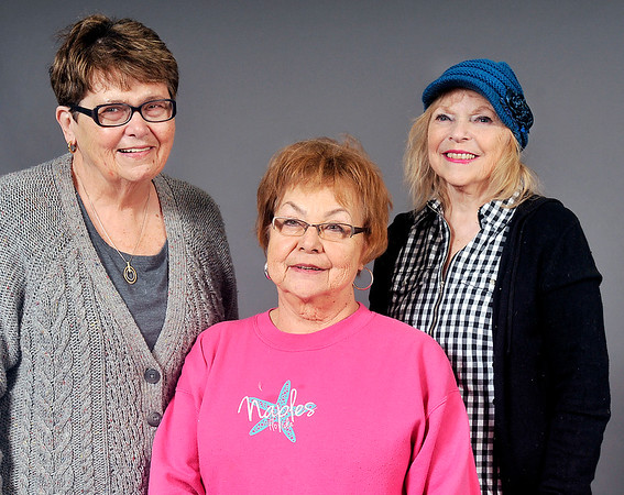 John P. Cleary |  The Herald Bulletin<br /> Sue Hamilton, Sandy Riggs, and Patsy Spencer going to inauguration protest in Indianapolis.