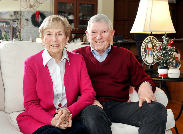 John P. Cleary |  The Herald Bulletin<br /> Marilyn and Jim Ault, THB's Person of the Year.