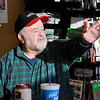 "John P. Cleary |  The Herald Bulletin<br /> Retired truck driver Dewayne ""Peanut"" Gaskin says the morning ritual of gathering at the Circle K is a way to escape cabin fever."