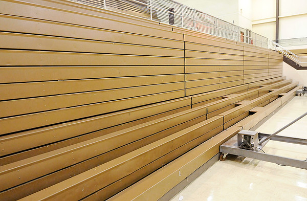 Don Knight |  The Herald Bulletin<br /> The bleachers at Highland Middle will be replaced if the bond referendum passes.