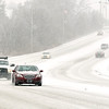 John P. Cleary | The Herald Bulletin<br /> Snowy road conditions along Raible Ave. Friday afternoon.