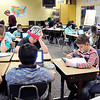 John P. Cleary |  The Herald Bulletin<br /> Jeri Tarvin's Eastside Elementary School fifth-grade plus class works on their math problems before the holiday break.  ACS proposes moving fifth-graders to a new intermediate school to be located in the former Eastside Middle School building.
