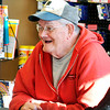 John P. Cleary |  The Herald Bulletin<br /> Firestone retiree Terry England has a laugh as he gathers with other retirees daily at the Circle K convenience store in Summitville.
