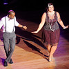 Don Knight |  The Herald Bulletin<br /> Eric Byers and Briana Vieke perform their dance in the style of West Coast Swing during Dancing Like the Stars at the Paramount on Saturday.
