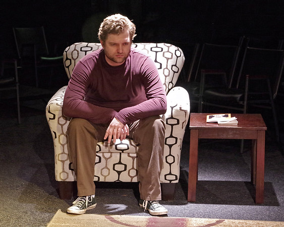 """Mark Maynard   for The Herald Bulletin<br /> In the Alley Theatre's presentation of """"Art,"""" the role of Serge is played by Gabriel Porch."""