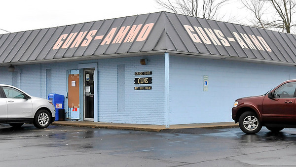 John P. Cleary | The Herald Bulletin<br /> Crack Shot Guns at 715 E. 53rd Street where thieves drove a vehicle into the building Sunday evening and stole an undisclosed numbers of firearms.