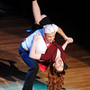 Don Knight |  The Herald Bulletin<br /> Blake Abshire dips his partner Ashley Thompson as they perform their dance in the style of Jive during Dancing Like the Stars at the Paramount on Saturday.