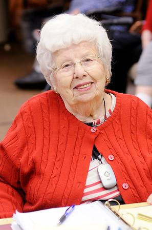 Don Knight |  The Herald Bulletin<br /> Martha Lou Laughlin has volunteered at St. Vincent de Paul for 13 years.